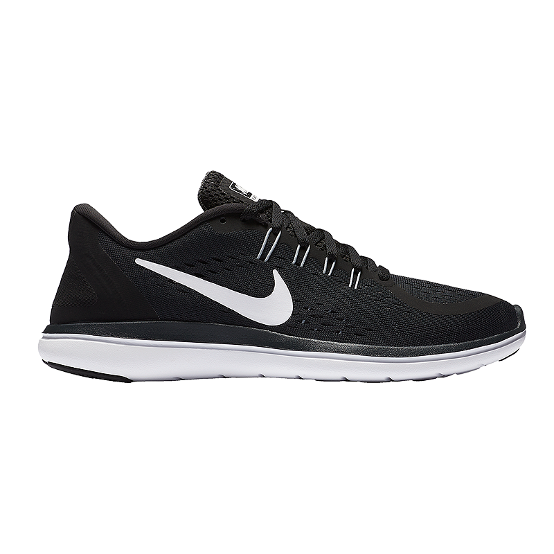 c88c39a24eb Nike Women s Flex 2017 RN Running Shoes - Black White