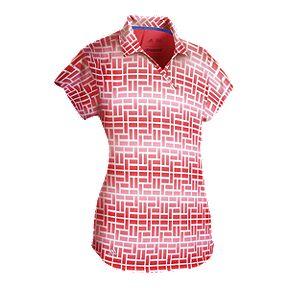 adidas Golf Women s Merch Print Short Sleeve Polo 147164a67