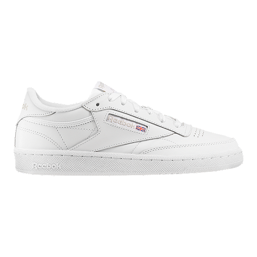 77fad4461 Reebok Women's Club C 85 Leather Shoes - White/Grey | Sport Chek