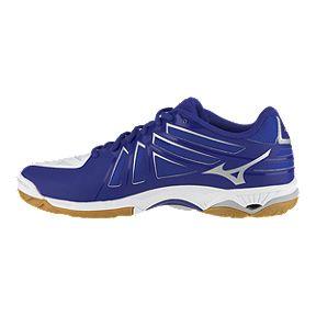 quality design 9c0d0 a04b1 Mizuno Men s Wave Hurricane 3 Indoor Court Shoes - White Blue