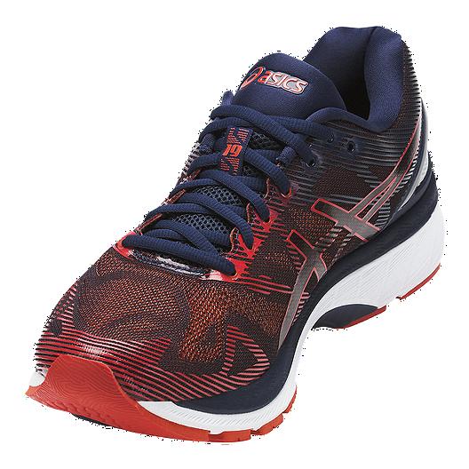 brand new 9dbe2 c310b ASICS Men's Gel Nimbus 19 Running Shoes - Dark Navy/Red
