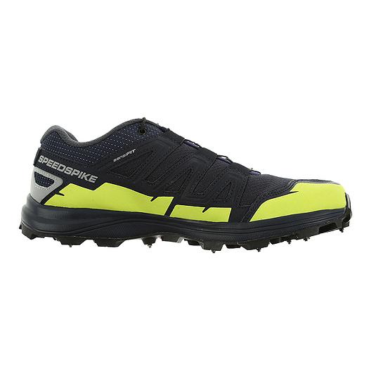 3d9e10856b68 Salomon Men s Speedspike CS Trail Running Shoes - Navy Silver Green ...