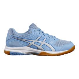 ASICS Women's Gel Rocket 8 Indoor Court Shoes - Blue/Silver/White
