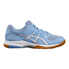fbfc93abec8a ASICS Women s Gel Rocket 8 Indoor Court Shoes - Blue Silver White