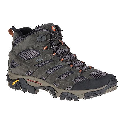 Merrell Men's Moab 2 Mid Waterproof Comfort Hiking Boot, Beluga 10% off