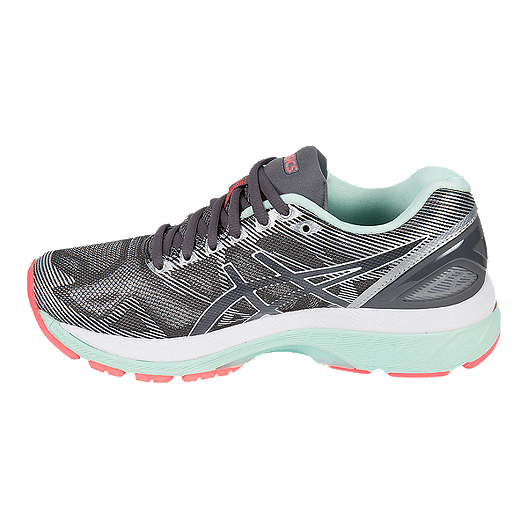 best service ff98a dc653 ASICS Women's Gel Nimbus 19 Running Shoes - Grey/White/Coral