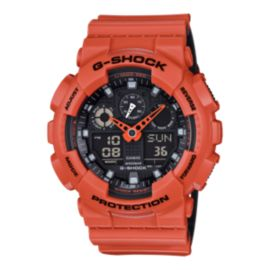 Casio G-Shock GA100L Watch - Orange
