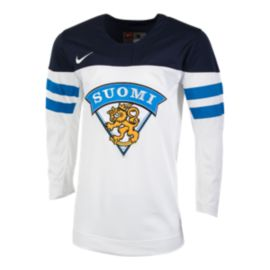 Team Finland Nike Olympic Replica Hockey Jersey
