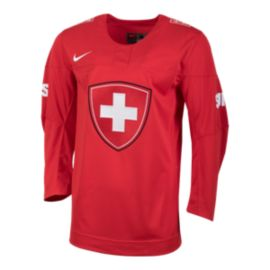 Team Switzerland Nike Olympic Replica Hockey Jersey