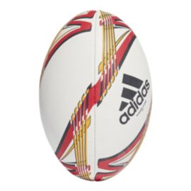 adidas Torpedo X-Ebit Rugby Ball - White/Collegiate Gold/Scarlet