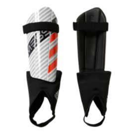 adidas Messi 10 Youth Shin Guards - White/Clear Onyx/Solar Red