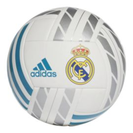 adidas Real Madrid Fan Ball - White/Vivid Teal/Silver