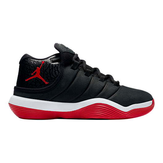 fba7bc54fc8ee Nike Jordan Kids  Super.Fly 6 Grade School Basketball Shoes - Black Red  White