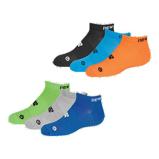e1979661a6248 New Balance Boys' No Show Socks - 6 Pack | Sport Chek