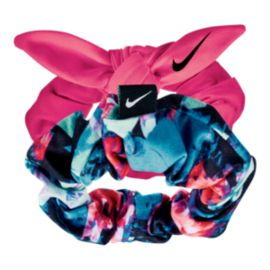 Nike Printed Gathered Hair Ties - 2 Pack