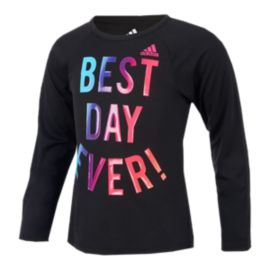 adidas Girls' Extraordinary Long Sleeve Shirt
