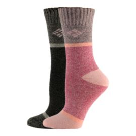 Columbia Women's Moisture Control Times Four Crew Socks - 2 Pack