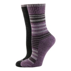 Columbia Women's Moisture Control Stripe Crew Socks - 2 Pack