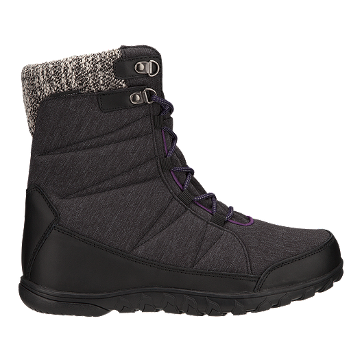 232c514c41a2 McKINLEY Women s Lara II Waterproof Winter Boots - Black Grey ...