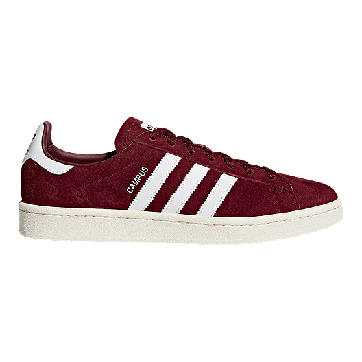2bf6f66a4f66 adidas Men s Campus Collegiate Shoes - Burgundy White