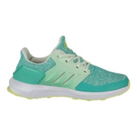 adidas Girls' RapidaRun Grade School Running Shoes - Green/Light Green/White