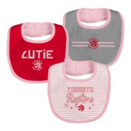 Toronto Raptors Infant Girls' Fair Catch Bib Set - 3-Piece