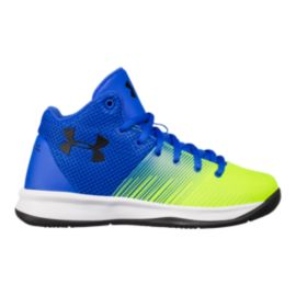 Under Armour Kids' Surge Preschool Shoes - Royal/Green/Black