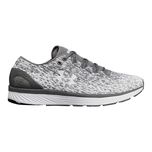 ef798123ef3 Under Armour Men s Charged Bandit 3 Ombre Running Shoes - Zinc Grey White