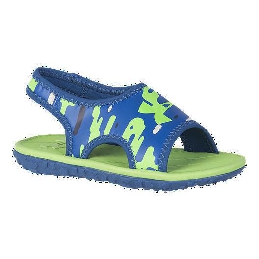 cheap for discount b02b1 cc558 Under Armour Toddler Fat Tire Sandals - Green/Blue
