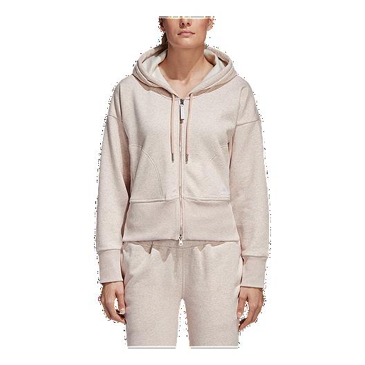 696fddd248328 adidas Women s Stella McCartney Athletics Essentials Hoodie - Pearl Sand  Melange