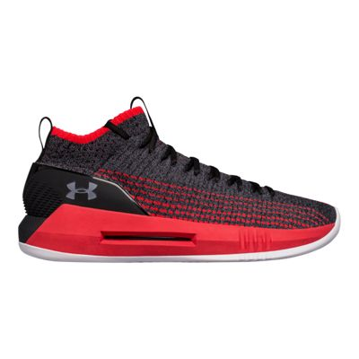 Under Armour Men's Heat Seeker Basketball Shoes - Black/Pierce/Grey