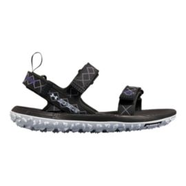 Under Armour Women's Fat Tire Sandals - Anthracite/Oxford Blue