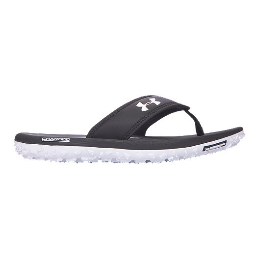 sale retailer 31842 f4718 Under Armour Men's Fat Tire T Sandals - Black/White