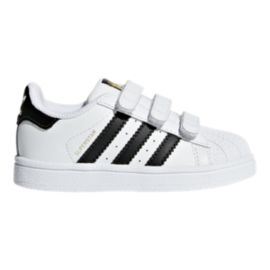 adidas Toddler Superstar Shoes - White/Black/White