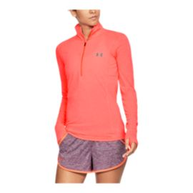 Under Armour Women's Threadborne Twist 1/2 Zip Long Sleeve Plus Size Training Shirt