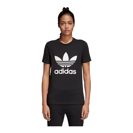 b161b4dc8 adidas Originals Women's Trefoil T Shirt - BLACK/WHITE