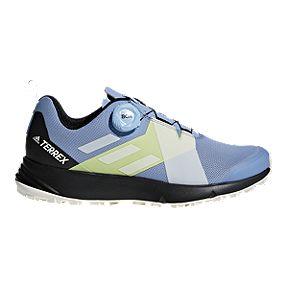 3edbaf282 adidas Women s Terrex Two Boa Hiking Shoes - Blue White Black