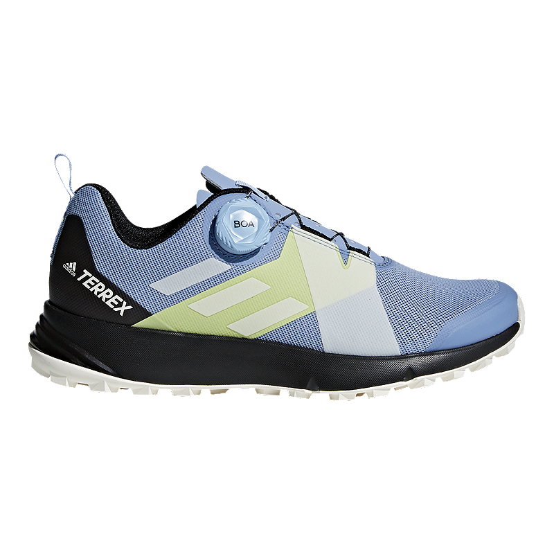 adidas Women s Terrex Two Boa Hiking Shoes - Blue White Black ... e39742fb3