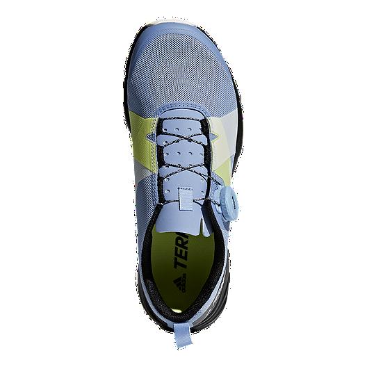 adidas Women's Terrex Two Boa Hiking Shoes BlueWhiteBlack