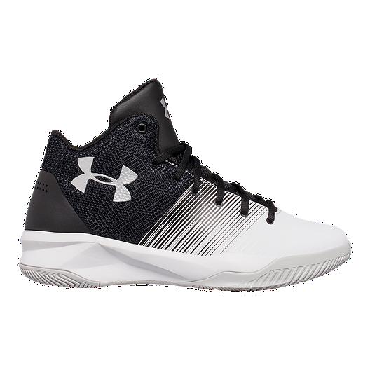 sports shoes 682d8 d67d1 Under Armour Kids  Surge Grade School Basketball Shoes - Black White   Sport  Chek