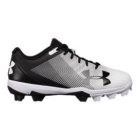 ddbcfc14f88e Under Armour Kids  Leadoff Low RM Baseball Cleats - Black White