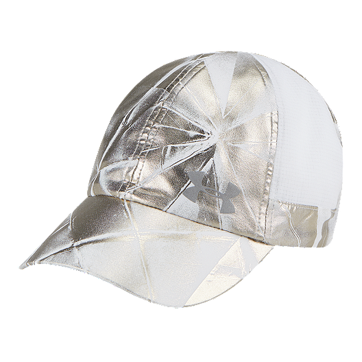48858e606f8 Under Armour Women s Fly By Run Hat - Metallic Gold Silver