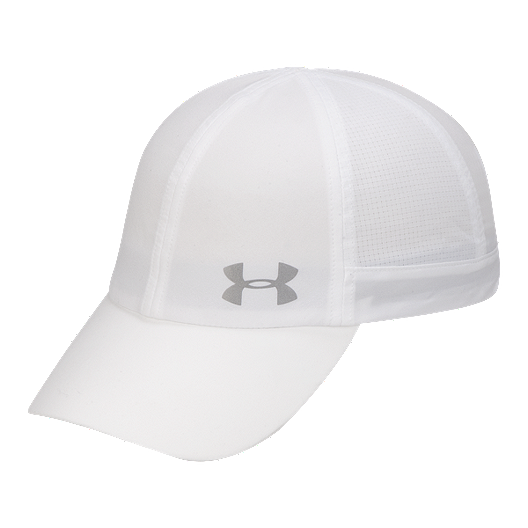 b4cd8ca0cc2 Under Armour Women s Fly By Run Hat - White   Silver