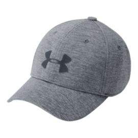Under Armour Boys' Twist Closer Stretch Fit Hat - Graphite/Steel/Stealth Grey