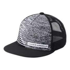 Under Armour Boys' Twist Knit Snapback Hat - Black/White