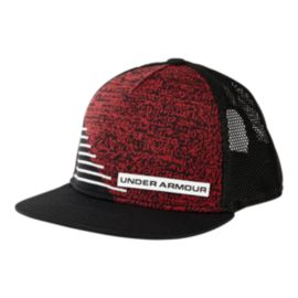 Under Armour Boys' Twist Knit Snapback Hat - Black/Red