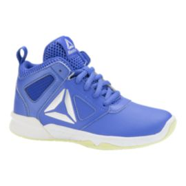 Reebok Kids' Dash N Drill Grade School Basketball Shoes - Acid Blue/ White/Electric Flash