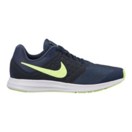 Nike Kids' Downshifter 7 Grade School Shoes - Blue/Volt