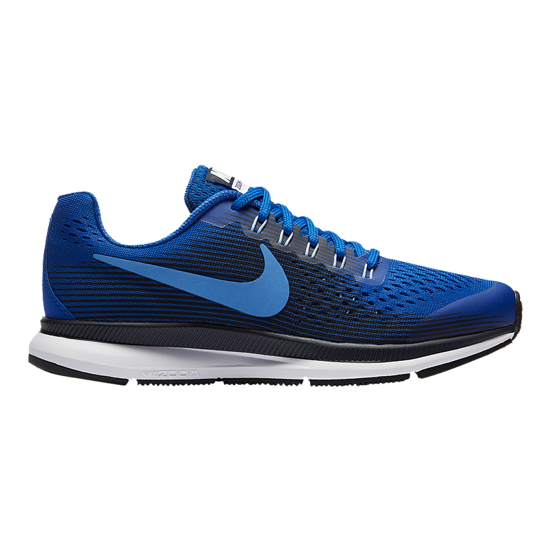 6b1de995ec1a Nike Kids  Pegasus 34 Grade School Running Shoes - Black Metallic White