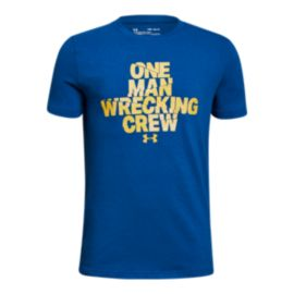 Under Armour Boys' One Man Wrecker T Shirt
